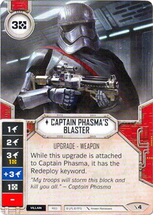 Bláster de la Capitán Phasma